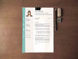 Teacher's Resume Template | Professional Resume Design + Cover Letter