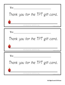 Teachers Rule Letter For Parents! (TPT gift card letter)