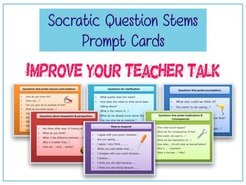 Teacher's Socratic Questioning Cards