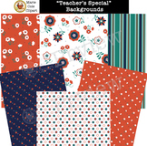 """Teacher's Special"" Backgrounds, Cover Pages & Printables [Marie Cole Clipart]"