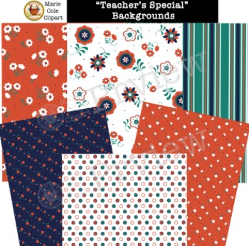 """""""Teacher's Special"""" Backgrounds, Cover Pages & Printables"""