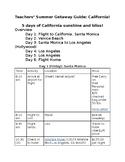 Teachers' Summer Getaway Guide: California!! (Guide 1)