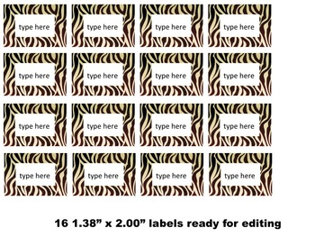 Teacher's Supply Labels