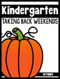 Kindergarten Teachers Taking Back Their Weekends {October Edition}