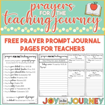 Teachers That Pray FREE Journal Pages