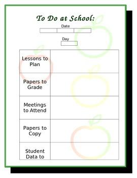 Teacher's To-Do List
