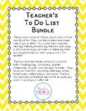 Teachers To Do List Bundle