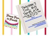 Teacher's Tool Box Labels