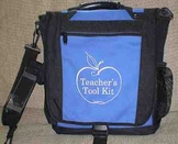 Teacher's Tool Kit  -  Empty Tote Bag Only  -  Royal Blue