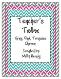 Teacher's Toolbox (Editable) Bright Chevron