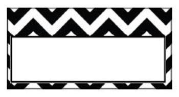 Teachers Toolbox Editable Labels Black Chevron