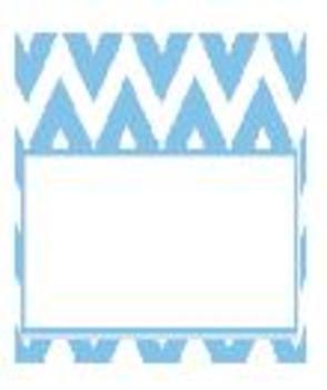 Teachers Toolbox Editable Labels Blue Chevron