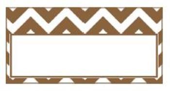 Teachers Toolbox Editable Labels Chocolate Brown