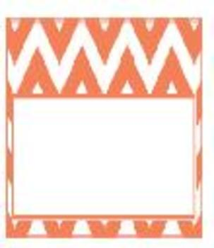 Teachers Toolbox Editable Labels Coral Chevron