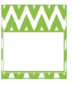 Teachers Toolbox Editable Labels Green Chevron
