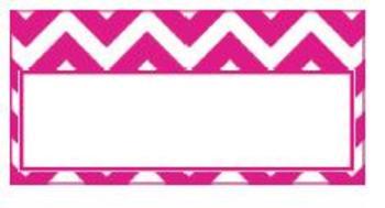 Teachers Toolbox Editable Labels Hot Pink Chevron