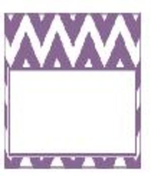 Teachers Toolbox Editable Labels Lavender Chevron