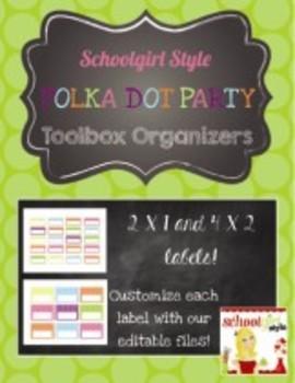 Teachers Toolbox Editable Labels Polka Dot Party