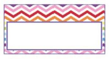 Teachers Toolbox Editable Labels Rainbow Chevron