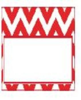 Teachers Toolbox Editable Labels Red Chevron