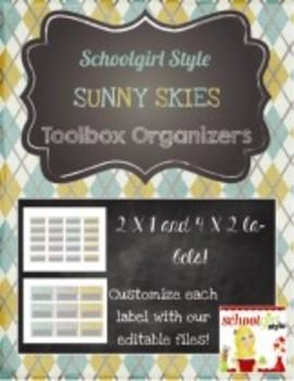 Teachers Toolbox Editable Labels Sunny Skies