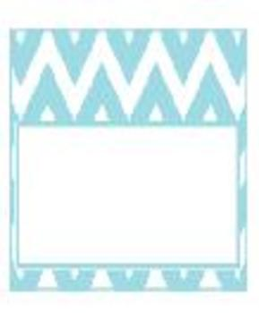 Teachers Toolbox Editable Labels Turquoise Chevron