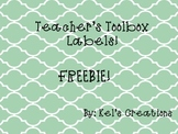 Teacher's Toolbox Labels