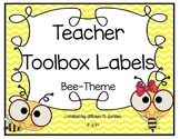 Teachers Toolbox Labels--Bee Themed or Custom