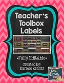 Teacher Toolbox Labels - Bold Chevron - Editable