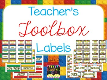"Teacher's Toolbox Labels - ""Building Blocks"" {EDITABLE File Included!}"