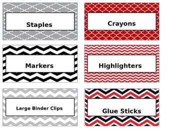 Teachers Toolbox Labels- Editable