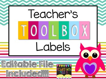 "Teacher's Toolbox Labels - ""Happy Owls"" {EDITABLE File Included!}"