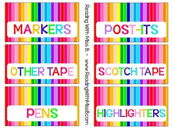 Teacher's Toolbox Labels - Happy Rainbow! {EDITABLE File Included!}