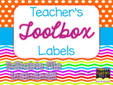 Teacher's Toolbox Labels - Rainbow Brights {EDITABLE FILE INCLUDED}