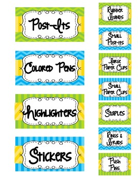 Editable Teacher's Toolbox-Lime, Turquoise, and Yellow