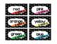 Teacher's Toolbox! Polka Dot Black and White  - 18 Drawer Labels