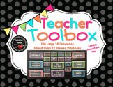 Teacher's Toolbox! Polka Dot and Chalkboard - 18 or 22 Dra