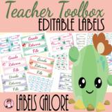 Teacher Toolbox Labels - Editable Cactus Style