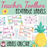 Teacher Toolbox Pineapple Editable Labels (Including Sterlite Drawer Collection)