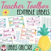 Teacher Toolbox Pineapple Editable Labels