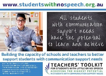 Teachers' Toolkit For Students With Little Or No Speech
