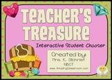Teachers Treasure Random Student Name Choose Picker Promethean Flipchart