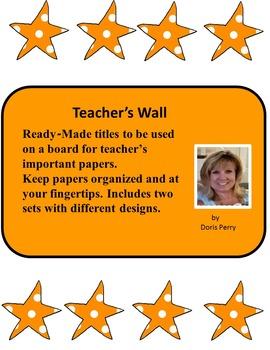 Teacher's Wall