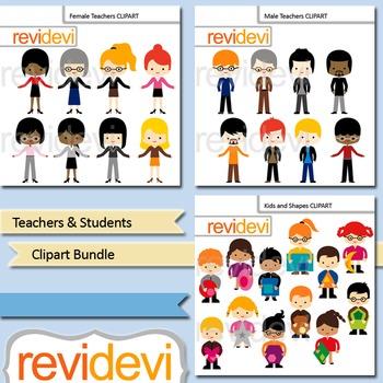 Teachers and Students Clip art Bundle (3 packs)