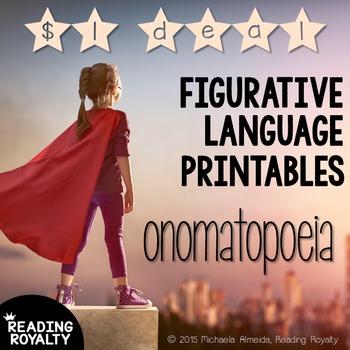 Onomatopoeia - Figurative Language Printables: $1 Deal