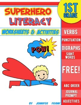 Teachers are Heroes! Free Superhero Literacy Pack: First Grade
