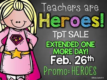 Teachers are Heroes TpT Sale Promo Banner