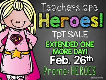 Teachers are Heroes TpT Sale Promo Banner