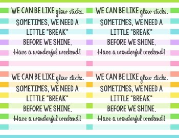 Teachers are like glow sticks-- Improving Staff Morale