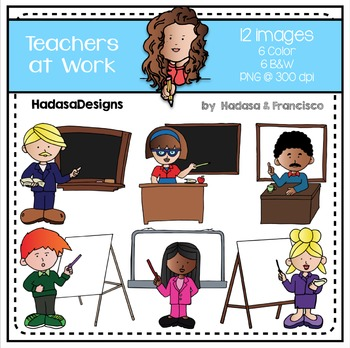 Teachers at Work Clip Art Set